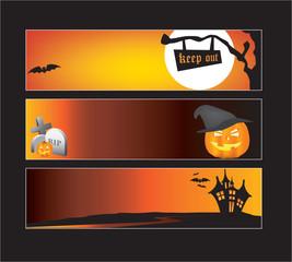 halloween web banners