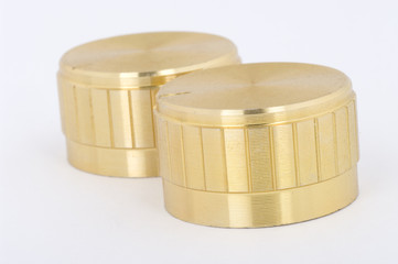 Two gold knobs