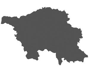 Flagge von Saarland - freigestellt