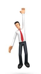 Businessman hung