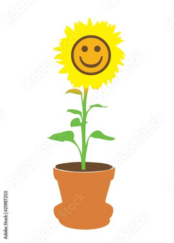 lachende sonnenblume im topf von peter k gler lizenzfreier vektor 21987253 auf. Black Bedroom Furniture Sets. Home Design Ideas