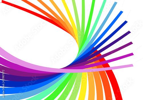 Foto op Plexiglas Spiraal Farbenfrohe Spirale