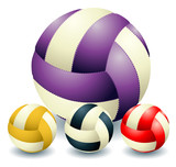 Four voleyballs