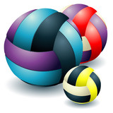 Three voleyballs