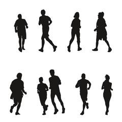Collection de silhouettes