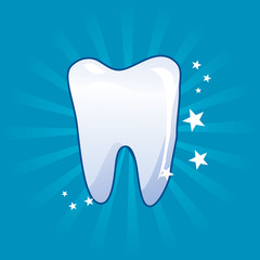 tooth icon - vector illustration
