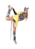 The girl dances erotic dance poster