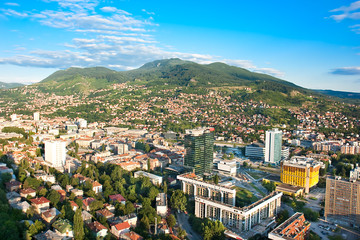 Arial architecture Sarajevo