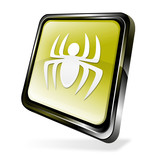 Yellow 3d malware icon poster