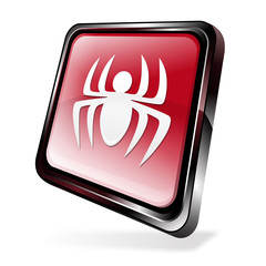 Red 3d virus icon