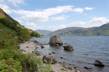 Loch Morar looking east with big rock
