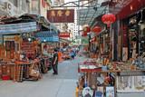 China, Hong Kong antique street market