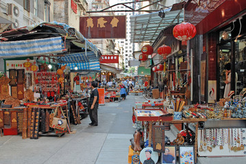 China, Hong Kong antique street market