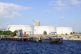 oil tanks in the port of Tampa Florida poster