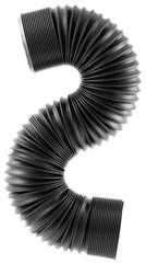 raccord flexible en S, fond blanc
