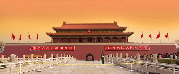Porte Tienanmen à Pékin - Beijing, China