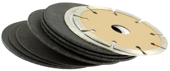 disques à découper, tronçonner, ébarber, fond blanc