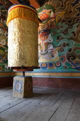 Prayer Wheel in Bhutanese monastery