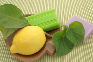 saponette al limone e lavanda