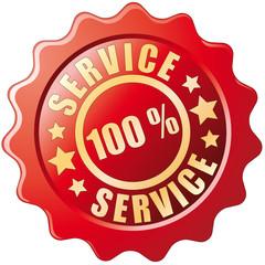 Button - 100% Service