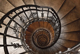 The spiral tower stairs