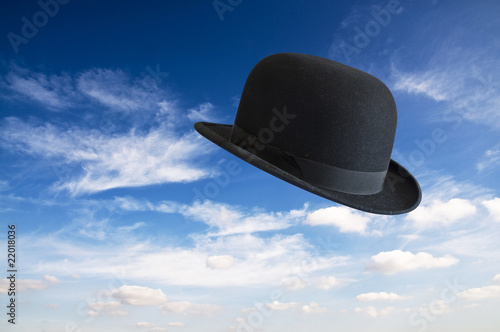 Bowler hat in sky