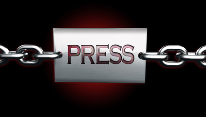 Press accreditation pass protection symbol