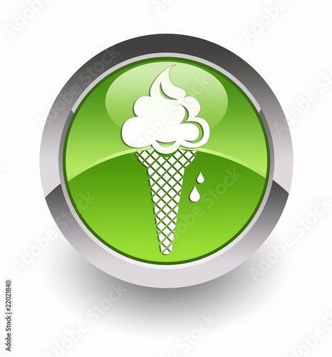 ''Icecream'' glossy icon