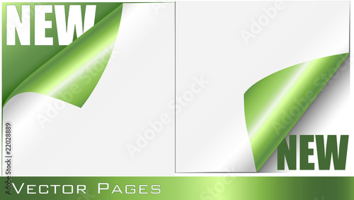 Green Curling Pages Set