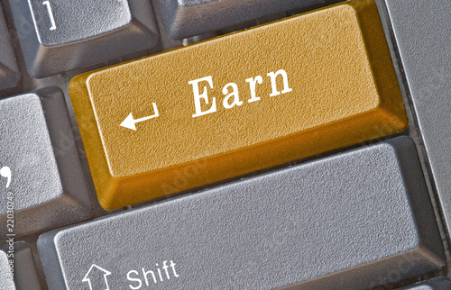 Keyboard with hot key for earn
