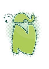 letra Ñ alfabeto ecology