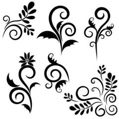 Set of ornament for design