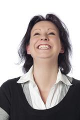 jeune femme heureuse rire