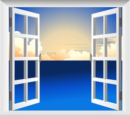 Finestra sul Mare-Window on Sea-Vector