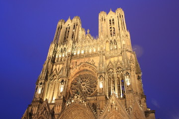 Cathedral of Notre-Dame of Reims in Champagne Province, France