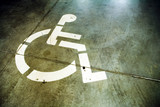 Disability sign on grunge background garage floor poster