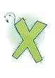 letra X alfabeto ecology