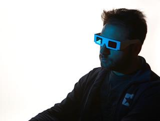 3D blue Cinema