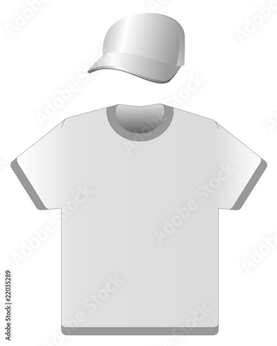 cap and T-shirt