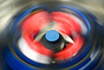 rotating rotor of centrifuge