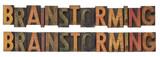 brainstorming - vintage wood letterpress type poster