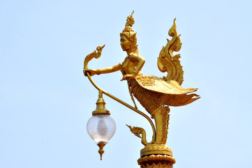 mythical creature in the temple of Thailand