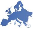 Karte von Europa - freigestellt