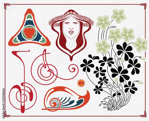 poster of treasures of historical design - art-nouveau (based on original)