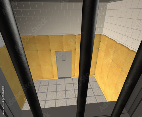 Padded Cell in a Mental Hospital - 3D render