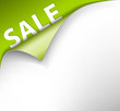 Green sale corner background