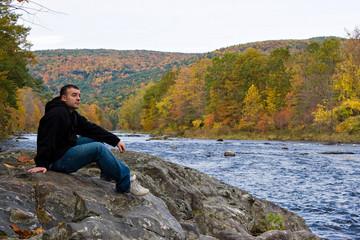 Vermont River Man