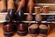 Leinwandbild Motiv Schuhschrank