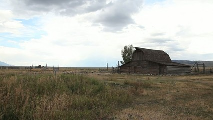 Mormon Barn Cabin in Grand Tetons National Park
