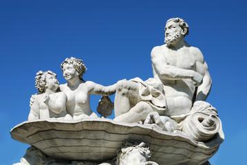 Particolare di statua in marmo